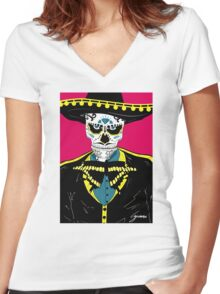 Mexican Color Women's Fitted V-Neck T-Shirt