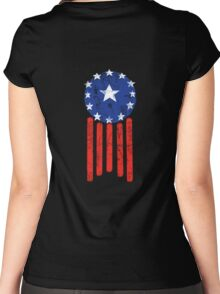 Old World American Flag Women's Fitted Scoop T-Shirt