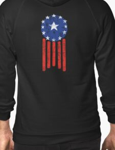 Old World American Flag Zipped Hoodie