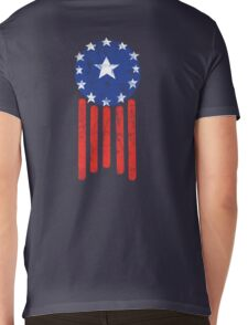 Old World American Flag Mens V-Neck T-Shirt