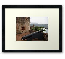 Cannon from Fort San Felipe in Puerto Plata, DR Framed Print
