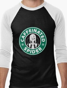 "Rachnera ""Caffeinated Spider"" Logo Men's Baseball ¾ T-Shirt"