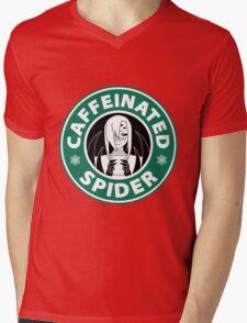 """Rachnera """"Caffeinated Spider"""" Logo Mens V-Neck T-Shirt"""