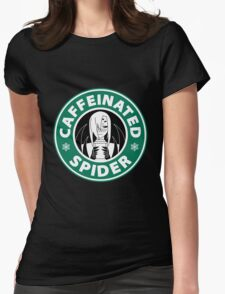 "Rachnera ""Caffeinated Spider"" Logo Womens Fitted T-Shirt"