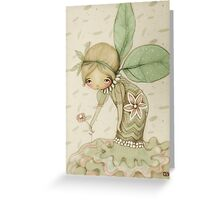 little leaf fairy Greeting Card