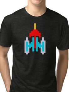Commander Galaxi - with monitor blur effect Tri-blend T-Shirt