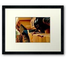 HEAVY DUTY construction -1 Framed Print