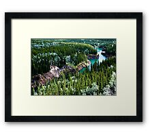 Yukon River Gorge Framed Print