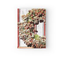 Fall Wreath in Pinks and Greens Hardcover Journal
