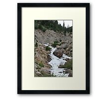 Flowing With The Rockies Framed Print
