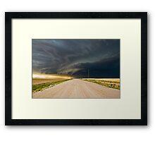 Dark roads ahead - Sharon Springs, Kansas Framed Print