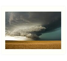 Rotating Supercell in the Palmer Divide, Colorado Art Print