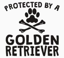 Protected By A Golden Retriever Kids Clothes