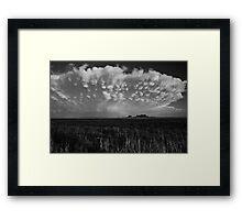 B&W Healy Kansas Thunderstorm Framed Print