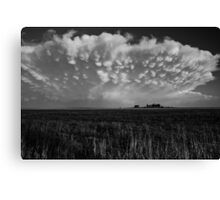 B&W Healy Kansas Thunderstorm Canvas Print