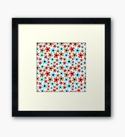 Floral pattern. Framed Print
