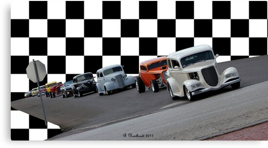 The Line-Up - Hwy. 80 Car Cruise by Betty Northcutt