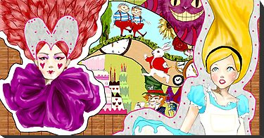Alice in Wonderland Mural Design by Lisa Wong