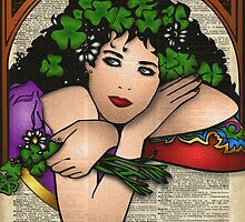 Gypsy Girl on Dictionary Page by DictionaryArt