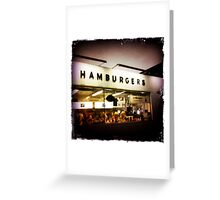 Hunter House Hamburgers Greeting Card