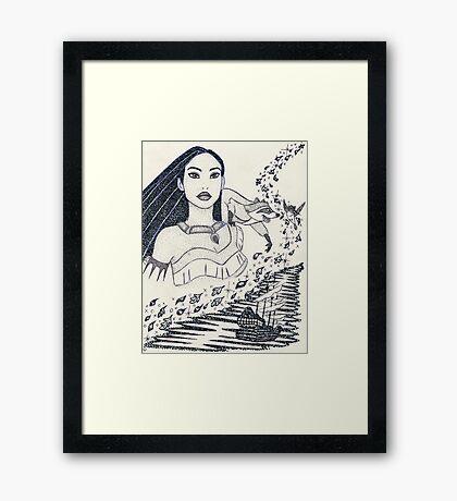 Iconic P Framed Print