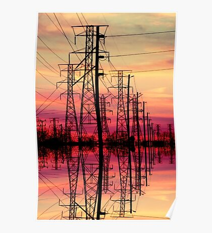 Powerful sunset. Poster