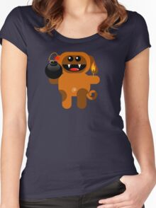 DOG 4 (Cute pet has a bomb and its alight!) Women's Fitted Scoop T-Shirt