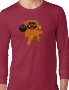 DOG 4 (Cute pet has a bomb and its alight!) Long Sleeve T-Shirt