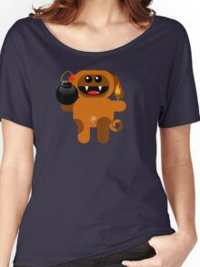 DOG 4 (Cute pet has a bomb and its alight!) Women's Relaxed Fit T-Shirt