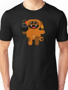 DOG 4 (Cute pet has a bomb and its alight!) Unisex T-Shirt