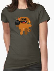 DOG 4 (Cute pet has a bomb and its alight!) Womens Fitted T-Shirt
