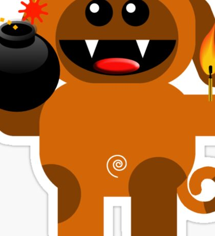 DOG 4 (Cute pet has a bomb and its alight!) Sticker