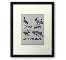 Moose Meese Framed Print