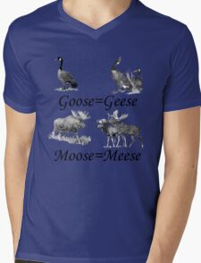 Moose Meese Mens V-Neck T-Shirt