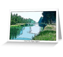Canal Near Bruges, Belgium Greeting Card