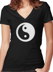 Yin Yang Ideology Women's Fitted V-Neck T-Shirt