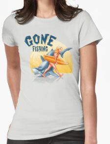 Gone Fishing Womens Fitted T-Shirt