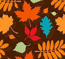 Colorful Leaves Pattern by XOOXOO