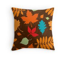 Colorful Leaves Pattern Throw Pillow