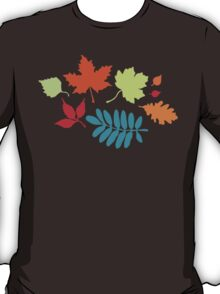 Colorful Leaves Pattern T-Shirt