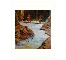 Waterfall crossing Art Print