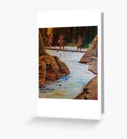 Waterfall crossing Greeting Card