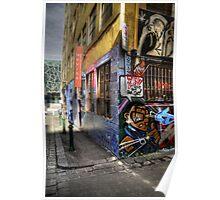 Laneway graffiti Poster