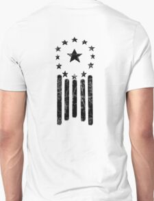 Old World American Flag [BLACK] Unisex T-Shirt