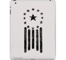 Old World American Flag [BLACK] iPad Case/Skin