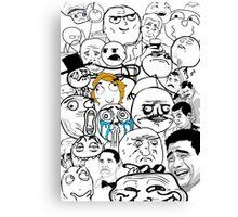 Meme compilation Canvas Print