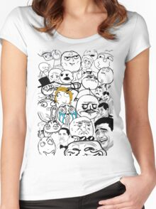 Meme compilation Women's Fitted Scoop T-Shirt