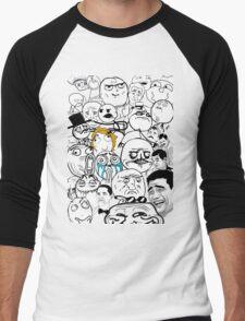 Meme compilation Men's Baseball ¾ T-Shirt