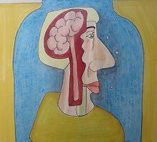 Broca's Brain - the area of the brain that handles speech. by John Henry Martin