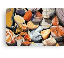 Cow Bay Rocks Canvas Print
